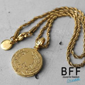 BFF ブランド コイントップネックレス プルメリアマイレモデル ゴールド 18K GP gold マイレ ハワイアンジュエリー ロープチェーン ペア 専用BOX付属