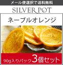 【メール便選択で送料無料】[おマトメ買い!]お茶請けに太陽のおいしさを。ネーブルオレンジ90g入りパック3個セット