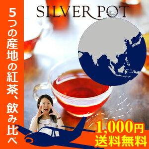 【送料無料(メール便)】[紅茶]お一人様1回限り。グルメ大賞受賞店がお送りするティーバッグ福袋「紅茶で世界旅行セット」