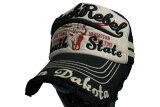 メッシュBlackRebelブラック野球帽男女兼用サイズフリー