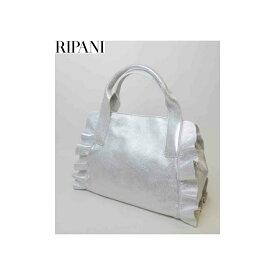 RIPANI(リパーニ) 牛革メタリック フリル2WAYハンドバッグ