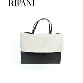 RIPANI(リパーニ) 牛革×キャンバストートバッグ