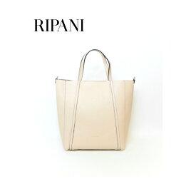 RIPANI(リパーニ) ストラップ付牛革トートバッグ