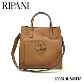 RIPANI (リパーニ) 牛革スクエアトートバッグL