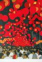 【田中正秋】 「七夕提灯祭り・山口」 版画(シルクスクリーン) 5号大 額装 【楽天・書画肆しみづ】