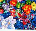 【ヒロヤマガタ】 「フローティングオーキッド」 版画(シルクスクリーン) 15号大 額装 【楽天・書画肆しみづ】