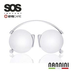 老眼鏡 薄型 送料無料 鼻掛け老眼鏡 薄い 軽い 持ち運びに便利 NANNINI S.O.S.リーディンググラス 父の日 プレゼント 実用的