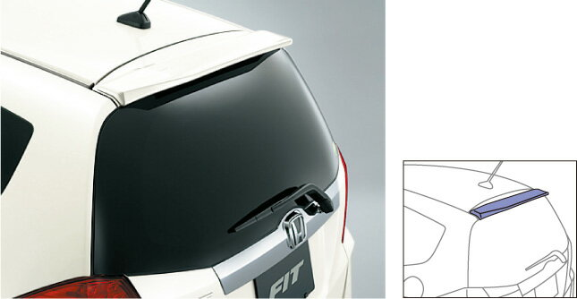 HONDA ホンダ FIT フィット ホンダ純正 テールゲートスポイラー(小型タイプ)【 2012.05〜次モデル】||