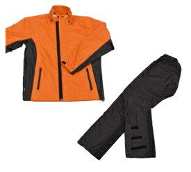 LEAD リード工業 RW-054 スリムレインスーツ オレンジ 3Lサイズ | バイクウェア レインスーツ レインウェア 上下セット バイク用品 メンズ レディース バイク ウェア パンツ インナー スリム かっこいい 細身 軽量 リード 釣り アウトドア ポイント消化