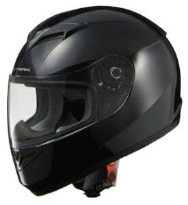 LEAD リード工業 STRAX SF-12 フルフェイスヘルメット ブラック Lサイズ   フルフェイス ヘルメット ヘルメ かっこいい バイク おしゃれ 原付 シールド インナー あごひも ワンタッチ 交換 全排気