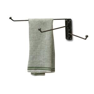 【条件付き送料無料】 タオルハンガー アイアン W3.5 D27 H10cm | ハンガー タオルハンガー タオル掛け タオル干し 壁掛け ランドリー 洗濯 タオル