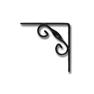【条件付き送料無料】 アイアンブラケット ブラック アイアン W0.8 D8 H8cm   ブラケット ガーデン プチリフォーム 園芸 棚受け 雑貨 マーク DIY アンティーク調 クラシカル 上品 収納 ディスプレ