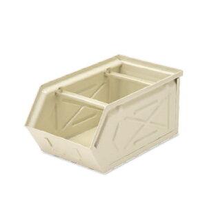 【条件付き送料無料】 スタッキングストレージBOX アイボリー スチール W16 D28.5 H13.5cm   ボックス 箱 スタッキング 収納 積み重ね カラー豊富 かわいい オシャレ キッチン リビング 小物 雑貨