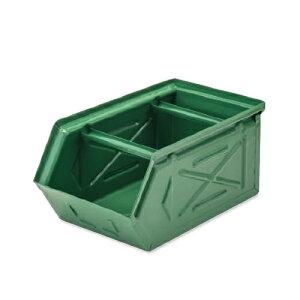 【条件付き送料無料】 スタッキングストレージBOX グリーン スチール W16 D28.5 H13.5cm   ボックス 箱 スタッキング 収納 積み重ね カラー豊富 かわいい オシャレ キッチン リビング 小物 雑貨 イ