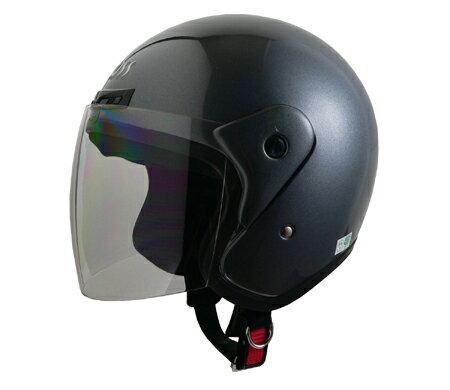 LEAD リード工業 ジェットヘルメット CROSS CR-720 ガンメタリック