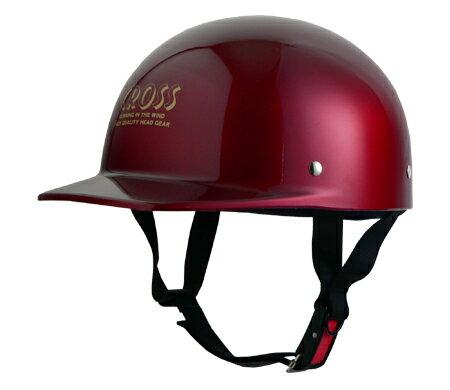 LEAD リード工業 ハーフヘルメット CROSS CR-680 キャンディーレッド
