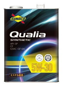 SUNOCO スノコ エンジンオイル Qualia クオリア 5W-30 20L缶 | 5W30 20L 20リットル ペール缶 オイル 交換 人気 オイル缶 油 エンジン油 車検 車 オイル交換 ポイント消化