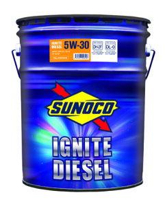 SUNOCO スノコ ディーゼルエンジンオイル IGNITE DIESEL イグナイト ディーゼル 5W-30 DH-2F DL-0 20L缶 | 5W30 DH2F DL0 20L 20リットル ペール缶 オイル 交換 人気 オイル缶 油 エンジン油 車検 車 オイル交換