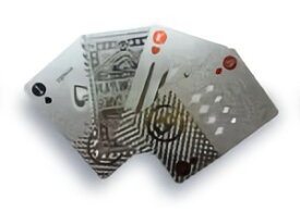 TRI PLAYING CARDS SILVER SLW145 | トランプ カード カードゲーム ゲーム プラスチック シルバー 銀 プレイングカード PVC素材 ポーカー カジノ 大富豪 マジック 手品 テーブル ゲーム クリスマス お正月 年末年始 パーティー イベント 雑貨 おもちゃ ホビー 家族 友達