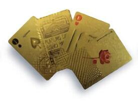 TRI PLAYING CARDS GOLD SLW146 | トランプ カード カードゲーム ゲーム プラスチック ゴールド 金 プレイングカード PVC素材 ポーカー カジノ 大富豪 マジック 手品 テーブル ゲーム クリスマス お正月 年末年始 パーティー イベント 雑貨 おもちゃ ホビー 家族 友達