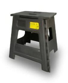 TRI FOLDING STOOL Casino BLACK SLW175 | イス スツール チェア 折りたたみ カラフル 踏み台 脚立 補助いす ステップ ミニサイズ アウトドア キャンプ アウトドア用品 ピクニック バーベキュー 釣り プール 頑丈 耐荷重180kg 簡易テーブル ミニテーブル 大人も使える