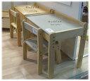 高さ調整可能なキッズデスク&チェアー 引き出し付き ナチュラル色 グレー こども用机 椅子 2点セット キッズ用家具 子供用 天然木 木製 送料無料