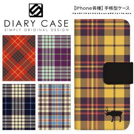 iPhone XS Max ケース XR iPhoneX iPhone8 iPhone7 Plus iPhone6s iPhone6 Plus iPhone5s iPhoneSE iPhoneケース スマホケース 手帳型 アイフォンケース アイフォンカバー / チェック柄 トナカイ