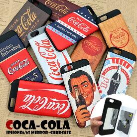スマホケース iPhoneXS iPhoneX ケース iPhone8 iPhone7 iPhone6 iPhone6s 【 コカコーラ 】CocaCola iPhoneケース TPUケース ミラー付き アイフォンケース スマホカバー カード収納 Coca-Cola ロゴ入り