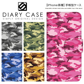 iPhone XS Max ケース XR iPhoneX iPhone8 iPhone7 Plus iPhone6s iPhone6 Plus iPhone5s iPhoneSE iPhoneケース スマホケース 手帳型 アイフォンケース アイフォンカバー / 迷彩 カモフラ柄