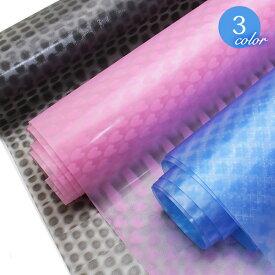 【メール便不可】0.4mm透明3Dシート(1157) | 透明 シート 水玉 ドット 星 スター ハート