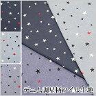 デニム調星柄ツイル生地(8209)