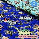 恐竜くん キルティング生地(9406)【メール便は1色のみ50cmまでOK同梱不可】恐竜 入園入学 キルト キルティング かわいい 男の子 布地 入園グッズ バッグ レッスンバッグ 幼稚園 キルト生地