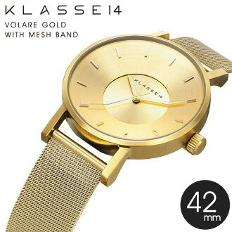 KLASSE14 class 14 and VOLARE GOLD WITH MESH BAND watch stainless steel mesh belt KLA005 regular sale shop watch funny rather than Cynthia gift gadgets