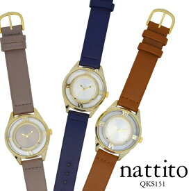 81886f37c7 レディース腕時計 nattito QKS151 ホロウ スケルトンファッションウォッチ 合皮 革ベルト プレゼント ギフト 保証1