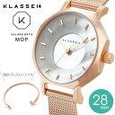 【正規販売店 2年保証】レディース 腕時計 klasse14 クラス14 VOLARE OKTO MOP with Mesh Strap 28mm オクト パール …