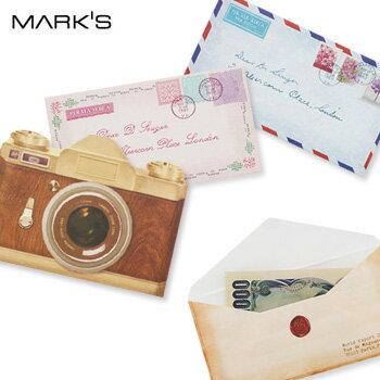 【3点以上購入でメール便送料無料】【Mark'sマークス】 ぽち袋 カメラ レターぽち金封【メール便OK】 腕時計とおもしろ雑貨のシンシア プレゼント 【あす楽対応可】