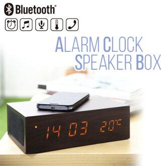 也和座钟祝贺新居建成Bluetooth闹钟音箱箱棕色天然充电Bluetooth音箱温度计iPhone智能手机室内装饰手表做杂货的shinshiapurezentogifuto
