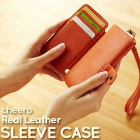 【クーポンあり★マラソン限定】 iPhone55s5c 本革ケース cheero Leather Case-Sleeve Case チーロスリーブケース CHE-BAS ウォレットケース 腕時計とおもしろ雑貨のシンシア プレゼント 【メール便OK】