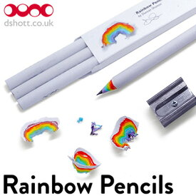 Rainbow Pencils レインボーペンシル 鉛筆 HB 3本セット えんぴつ エンピツ ペンシル かわいい 虹 にじ おしゃれ プレゼント ギフト 文房具 ステーショナリー【メール便OK】 おもしろ雑貨のシンシア プレゼント