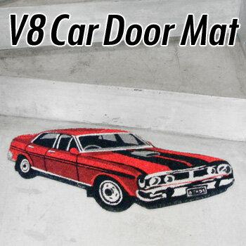 V8 Car Door MatV8カードアマット コイヤーマットピックアップバンセダンクーペ 腕時計とおもしろ雑貨のシンシア プレゼント ギフト 【あす楽対応可】