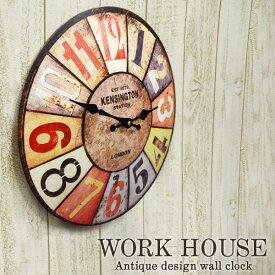 ウォールクロック WORK HOUSEワークハウス 1J-045 掛け時計 おもしろ雑貨のシンシア プレゼント 【あす楽対応可】