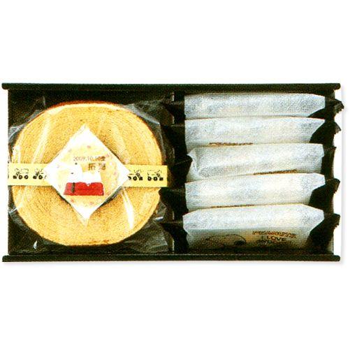 【出産内祝い 七五三 お返し】スヌーピー バウムクーヘン&クッキーセット<3300>(お名入れ)