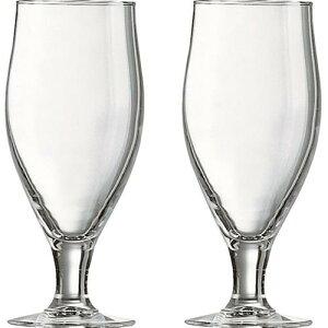 リュミナルク<セルボワーズ>ビアグラス ペア<2000>★ステムがついたビアグラスセットは、おうちでプレミアムビールを飲むのにぴったりです。もちろんジュースやアイスティーにも★