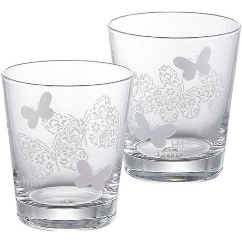 ハナエモリ<ペティ ボヌール>ペアグラスセット<2500>★冷たい飲み物を入れるとグラスの色が変わります。初めて見た時の驚きをあの人に♪★【出産祝い ギフト 内祝い 結婚祝い 出産内祝い 快気祝い】【誕生日プレゼント】【結婚式 引き出物】