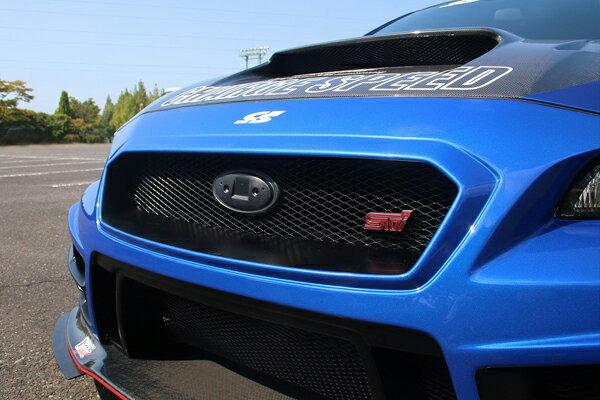 チャージスピード WRX STI VAB スバルマークベース フロントグリル用 FRP/黒ゲル CHARGE SPEED BottomLine ボトムライン