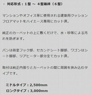 【ユーアイビークル/ハイエース/200系/CFカーゴマット/ショートタイプ*/Uivehicle】