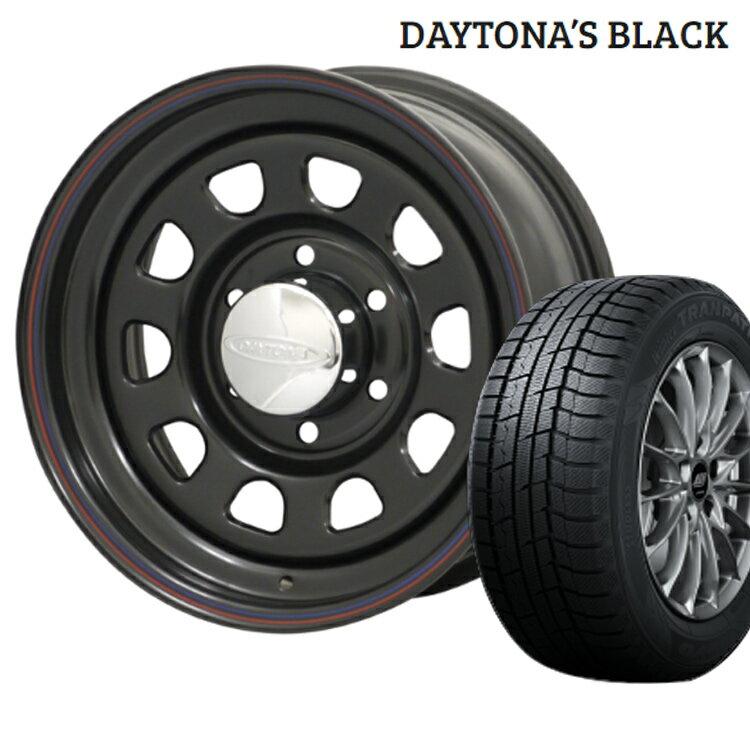 デイトナ ブラック スタッドレス タイヤ ホイール セット 4本 15インチ 6H139.7 7J+12 TOYO トーヨー ウィンタートランパス TX 205/70R15 205 70 15