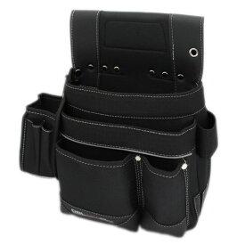 DBLTACT 墨つぼケース付釘袋 DT−19−BK【腰袋 工具袋 ネイルバッグ ウエストバッグ 仮枠 ポケット DT-19-BK 大工 仮枠】
