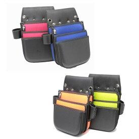侍BLACK 釘袋首長(4カラー)【腰袋 工具袋 ネイルバッグ 大工 内装 型枠】