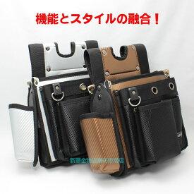 KOZUCHI 仮枠袋 WT−01BR(SV)【コヅチ 釘袋 工具袋 腰袋 ネイルバッグ ウエストバッグ サイドポケット 大工 仮枠】